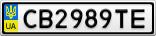 Номерной знак - CB2989TE