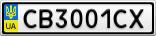 Номерной знак - CB3001CX