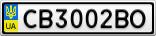 Номерной знак - CB3002BO