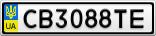 Номерной знак - CB3088TE