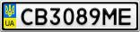 Номерной знак - CB3089ME