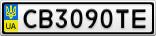 Номерной знак - CB3090TE