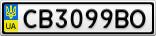 Номерной знак - CB3099BO