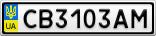 Номерной знак - CB3103AM