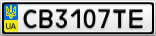 Номерной знак - CB3107TE