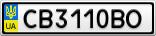Номерной знак - CB3110BO