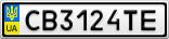 Номерной знак - CB3124TE