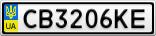 Номерной знак - CB3206KE