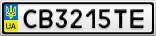 Номерной знак - CB3215TE