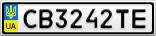 Номерной знак - CB3242TE
