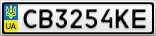 Номерной знак - CB3254KE