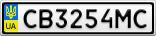 Номерной знак - CB3254MC