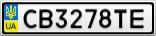 Номерной знак - CB3278TE