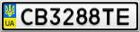 Номерной знак - CB3288TE