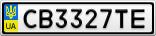 Номерной знак - CB3327TE