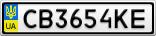 Номерной знак - CB3654KE