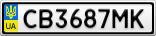 Номерной знак - CB3687MK