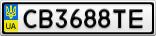 Номерной знак - CB3688TE