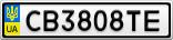Номерной знак - CB3808TE