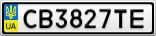 Номерной знак - CB3827TE