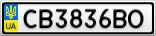 Номерной знак - CB3836BO