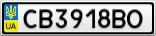 Номерной знак - CB3918BO