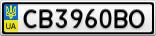 Номерной знак - CB3960BO