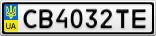 Номерной знак - CB4032TE