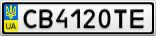 Номерной знак - CB4120TE