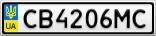 Номерной знак - CB4206MC