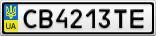 Номерной знак - CB4213TE