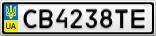 Номерной знак - CB4238TE