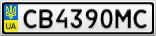 Номерной знак - CB4390MC