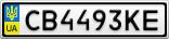 Номерной знак - CB4493KE