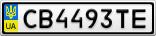 Номерной знак - CB4493TE