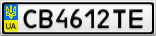 Номерной знак - CB4612TE
