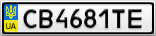 Номерной знак - CB4681TE