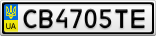 Номерной знак - CB4705TE
