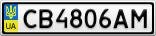 Номерной знак - CB4806AM
