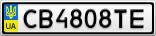 Номерной знак - CB4808TE
