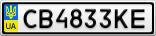 Номерной знак - CB4833KE