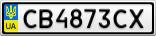 Номерной знак - CB4873CX