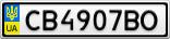 Номерной знак - CB4907BO