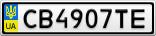Номерной знак - CB4907TE