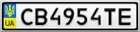 Номерной знак - CB4954TE