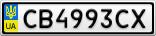 Номерной знак - CB4993CX
