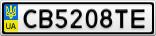 Номерной знак - CB5208TE
