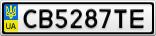 Номерной знак - CB5287TE