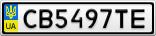 Номерной знак - CB5497TE