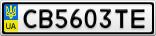 Номерной знак - CB5603TE